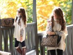 creamy ponhco outfit