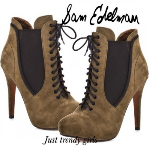 suede ankle boot by sam Edelman
