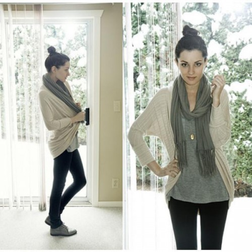 open cardigan outfit