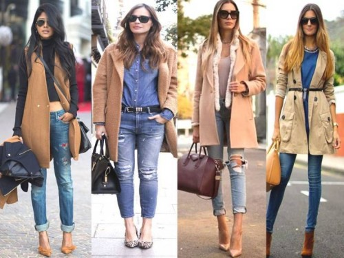 tan trench coats
