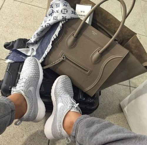Womens Nike Shoes with celine tote