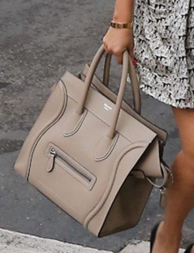 beige celine purse