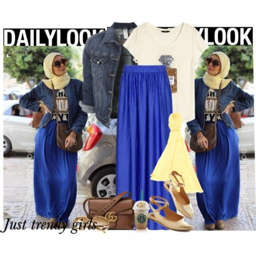 casual hijab street look,