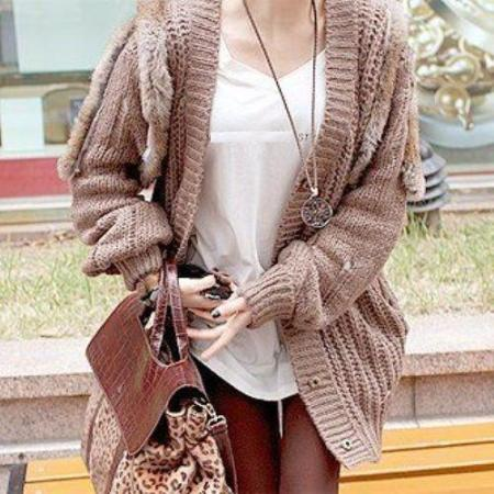 chunky winter cardigan