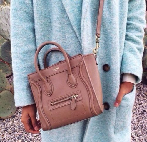 dusty rose celine tote bag