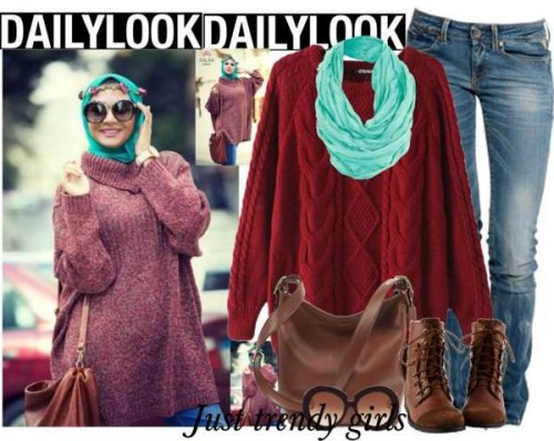 over sized sweater hijab style