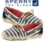 Sperry Top-Sider espadrille in Navy Stripe