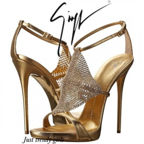 Zanotti Sequin-Embellished T-Strap Sandals