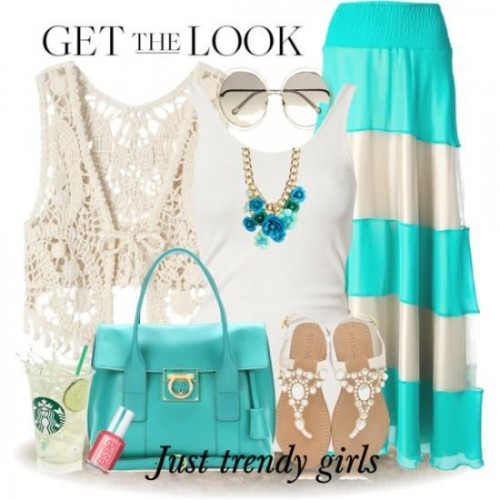 colorful spring outfit