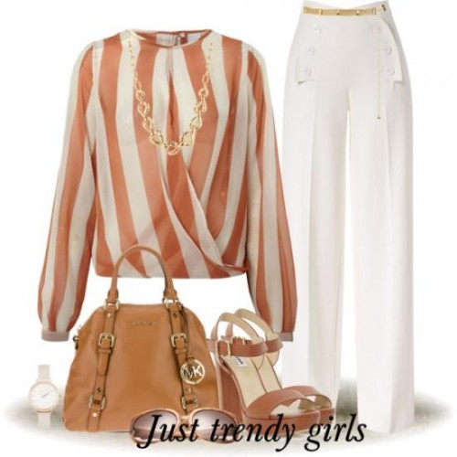 chiffon striped blouse