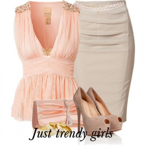 pastel color peach top