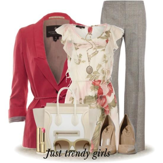 ee5aabd71eb spring work wear style outfit – Just Trendy Girls