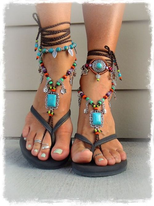 Bohemian Barefoot Sandals Just Trendy Girls
