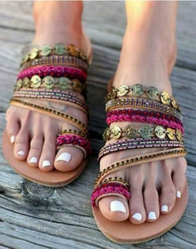 a1134fd38 Enjoy the lovely bare foot sandals collection.