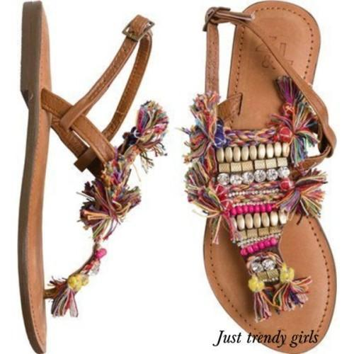 tribal summer sandals