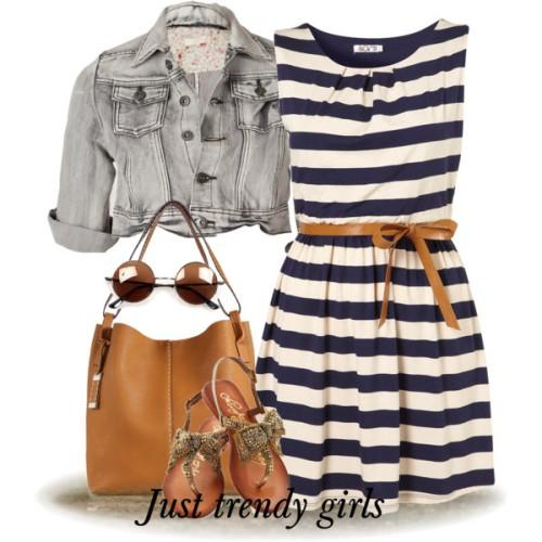amazing stripe short dress