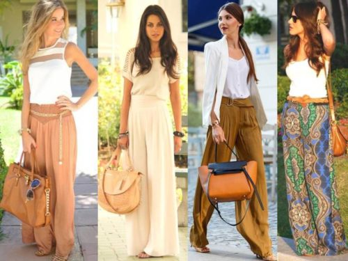 chic palazzo pants styling ideas