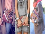 how to wear ethnic clutch
