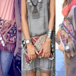 Mango Ethnic Embroidered Clutch Bags