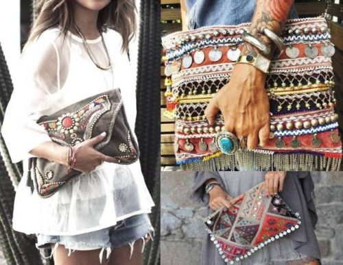 ethnic beaded clutches