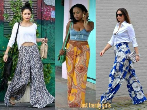 gypsy patterned palazzo pants
