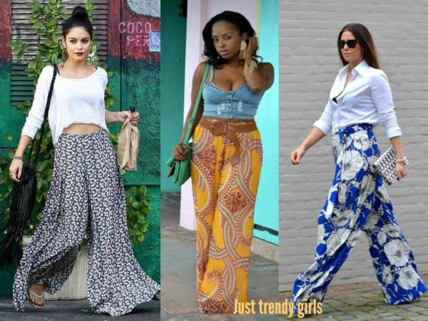 How To Wear Palazzo Pants Just Trendy Girls Stunning Patterned Flowy Pants