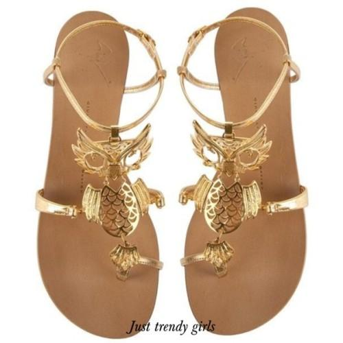 Jewel Embellished Flat Sandals
