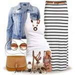 Stripes maxi skirts styling ideas