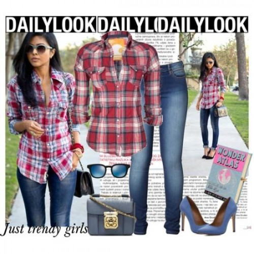 different ways to style a plaid shirt