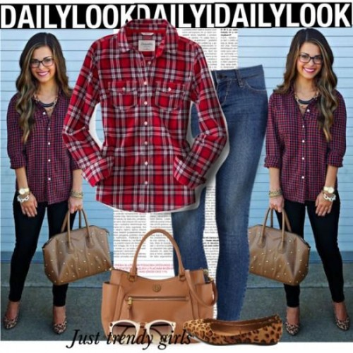 Casual Plaid shirts Outfits,