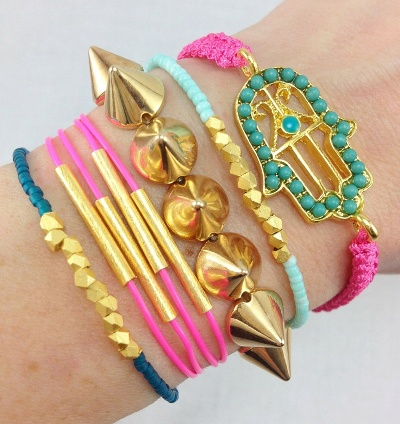 slab gold wire wrap bauble bracelets