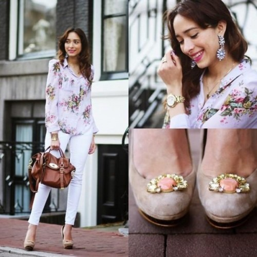 Woman spring street fashion style