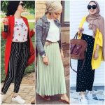 Colorful casual outfits in hijab
