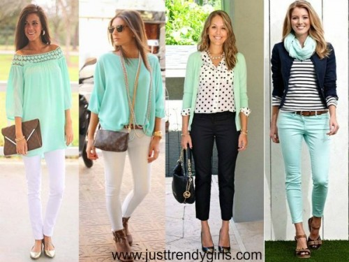 styling tips about mint color