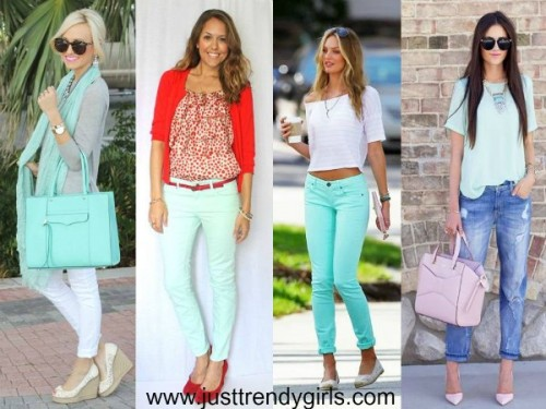 mint color is on trend this season