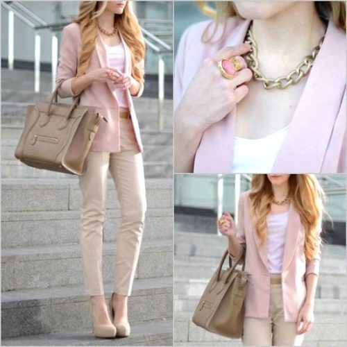 neutral classic outfit