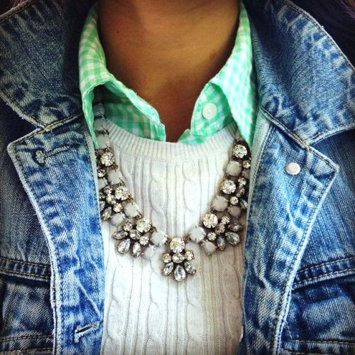 Contrast Braid Necklace