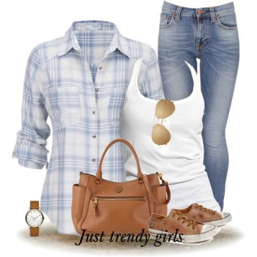 aqua checked shirt