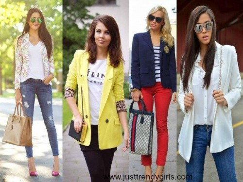 colorful blazers ideas,