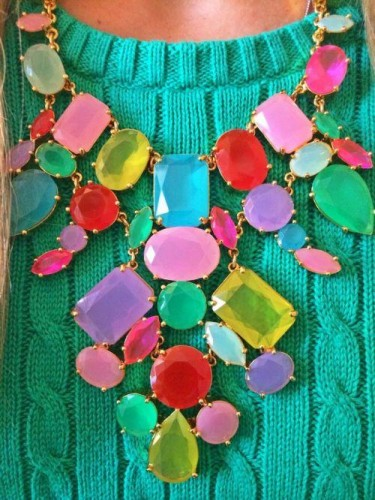 colorful necklace,