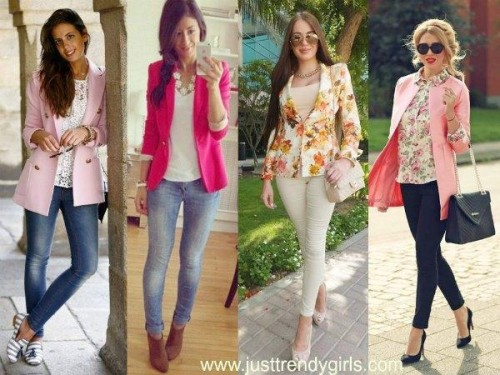 colorful spring blazers,