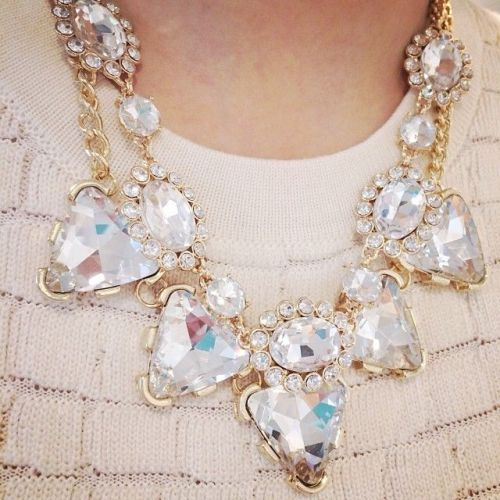 crystal white necklace