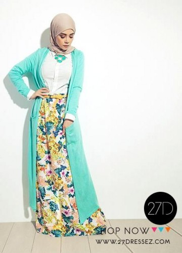 long cardigan with skirt outfit