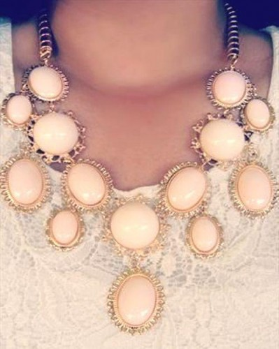 pastel peach necklace