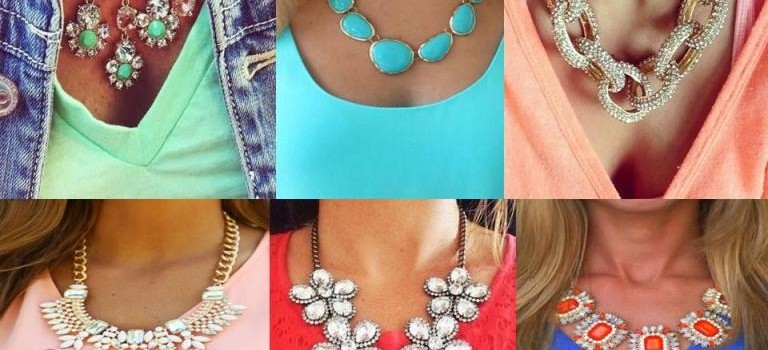 Charming statement necklaces