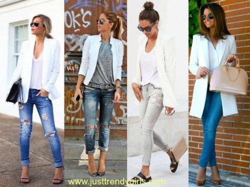 white blazer styling ideas,