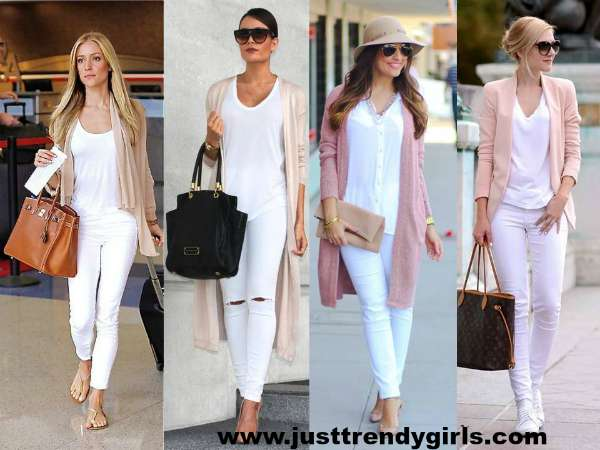 White pants styling ideas – Just Trendy Girls