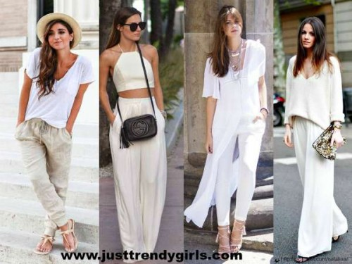 wide white pants styles