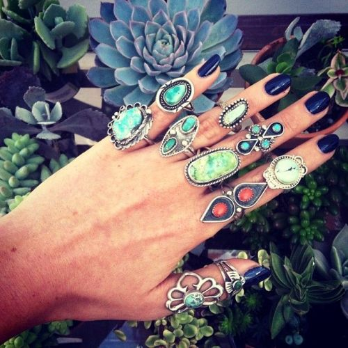rings with turquoise stones