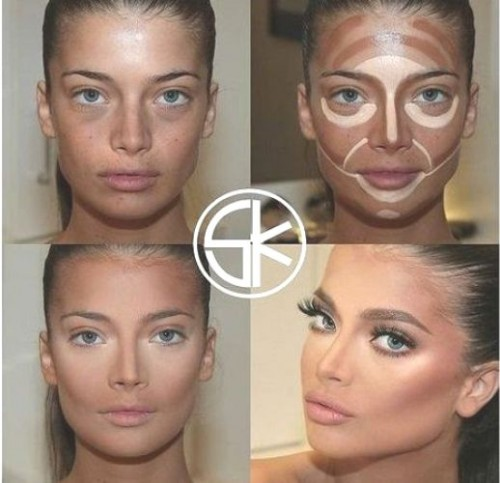 Contouring and highlighting the face